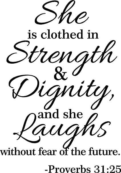 amazon com 32 proverbs 31 25 she is clothed in strength and