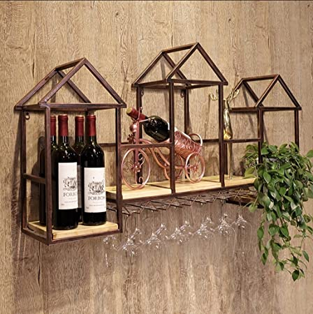 Fafz Glass Wine Glass Frame Modern Minimalist Creative Wall Wine