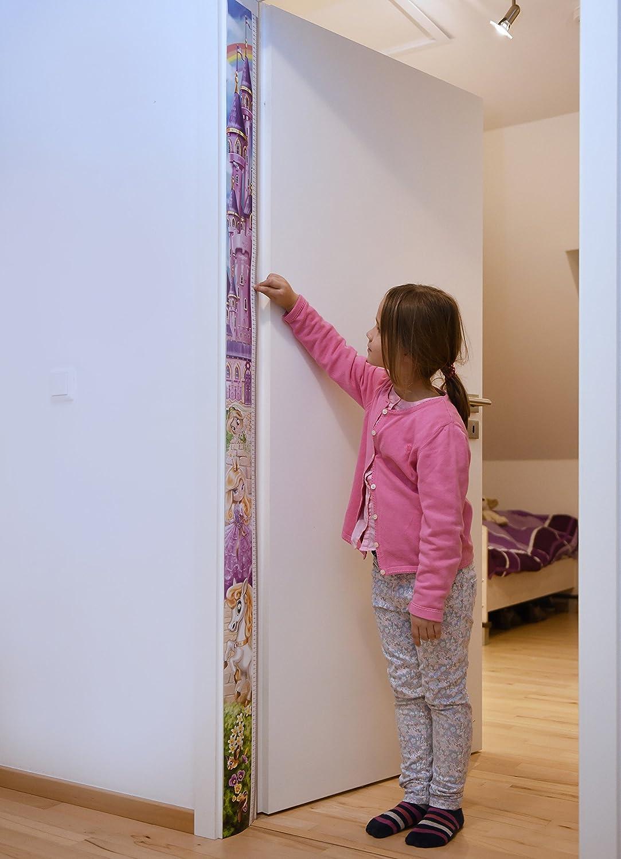 Messlatte Giraffe als Massband T/ürrahmen Messskala Kinder f/ür die Wand von 0 cm bis fast 2m die K/örpergr/ö/ße messen 1 St/ück Giraffen Gelb M/ädchen und Jungen Messleiste f/ür Kinder