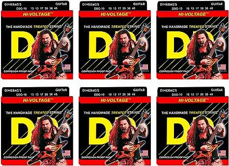 Dr cuerdas DBG-10 mediano Dimebag Darrell – Cuerdas para guitarra ...