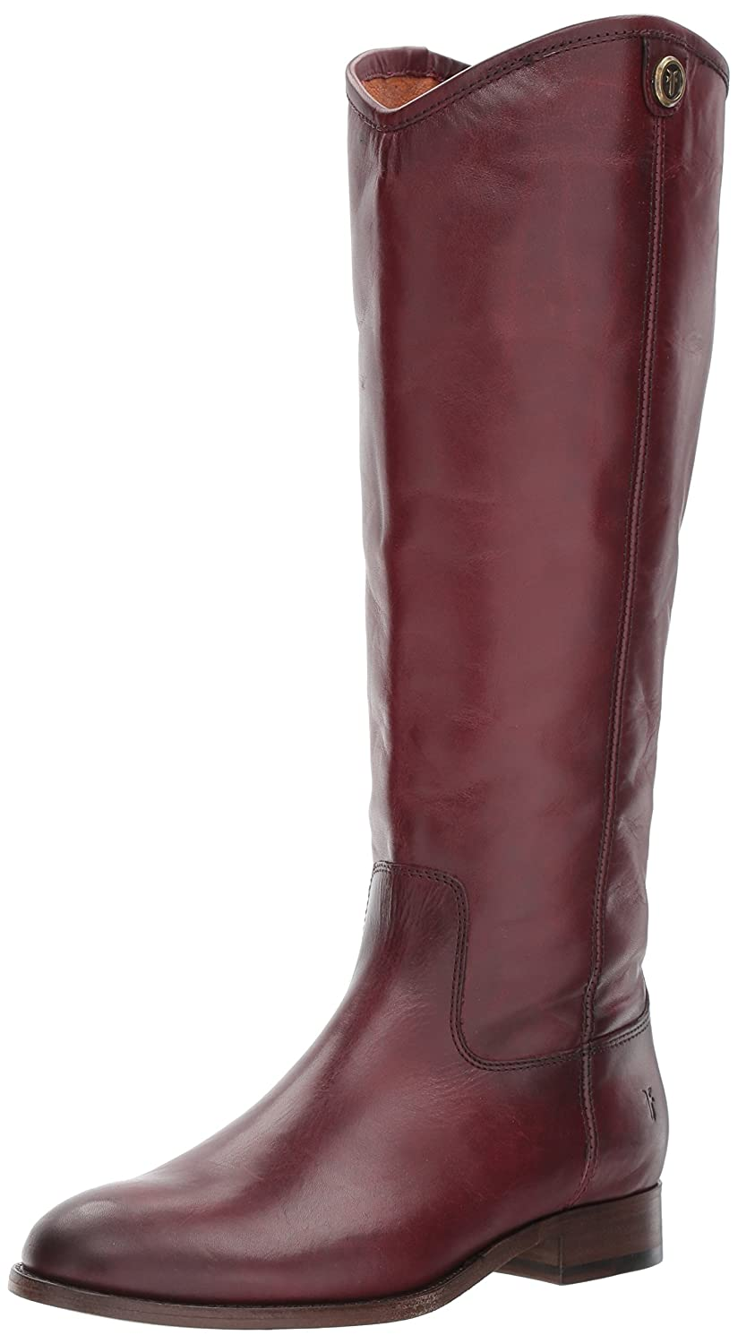 FRYE Women's Melissa Button 2 Extended Calf Riding Boot B06VSJVTZB 5.5 B(M) US|Wine Extended Calf