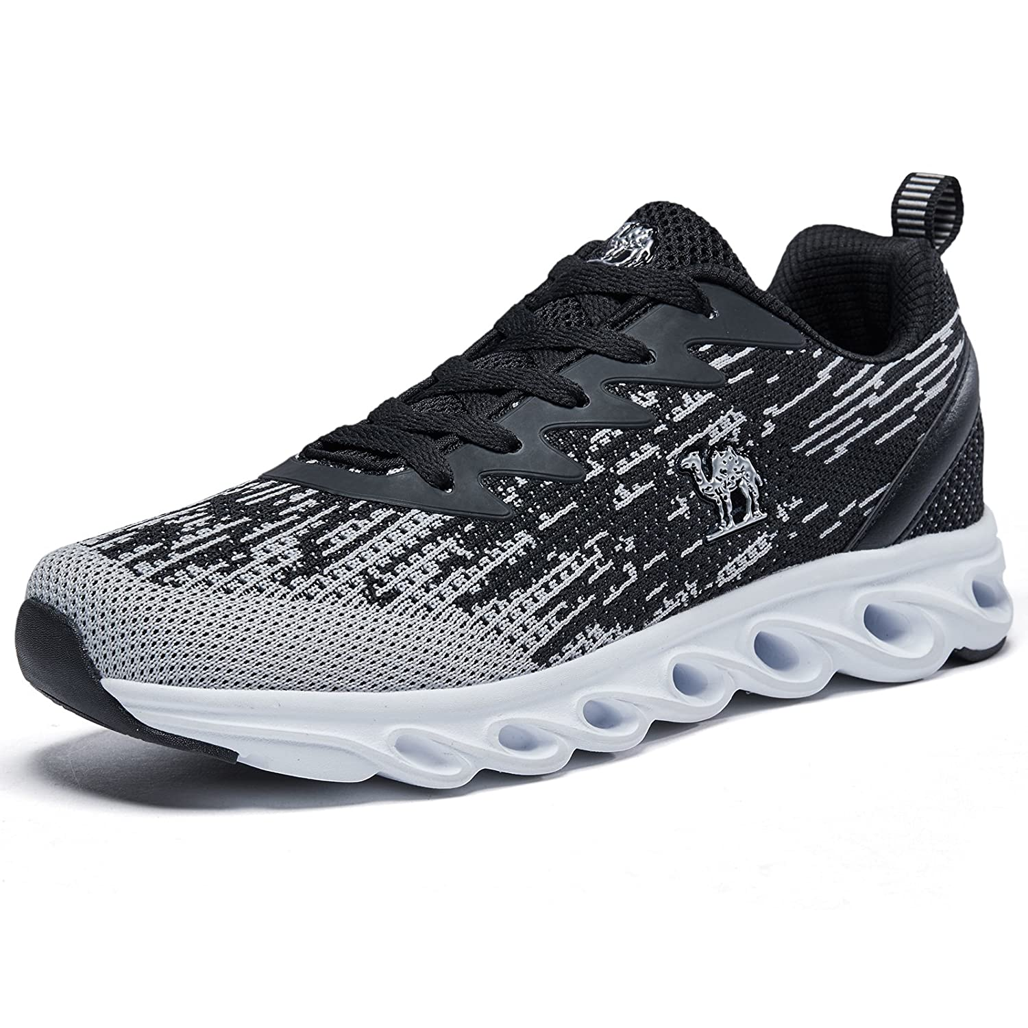 Camel Men's Trail Running Shoes Lightweight Breathable Athletic Sneakers for Sport Gym B07CLJJTN5 10.5 US-27CM Gray