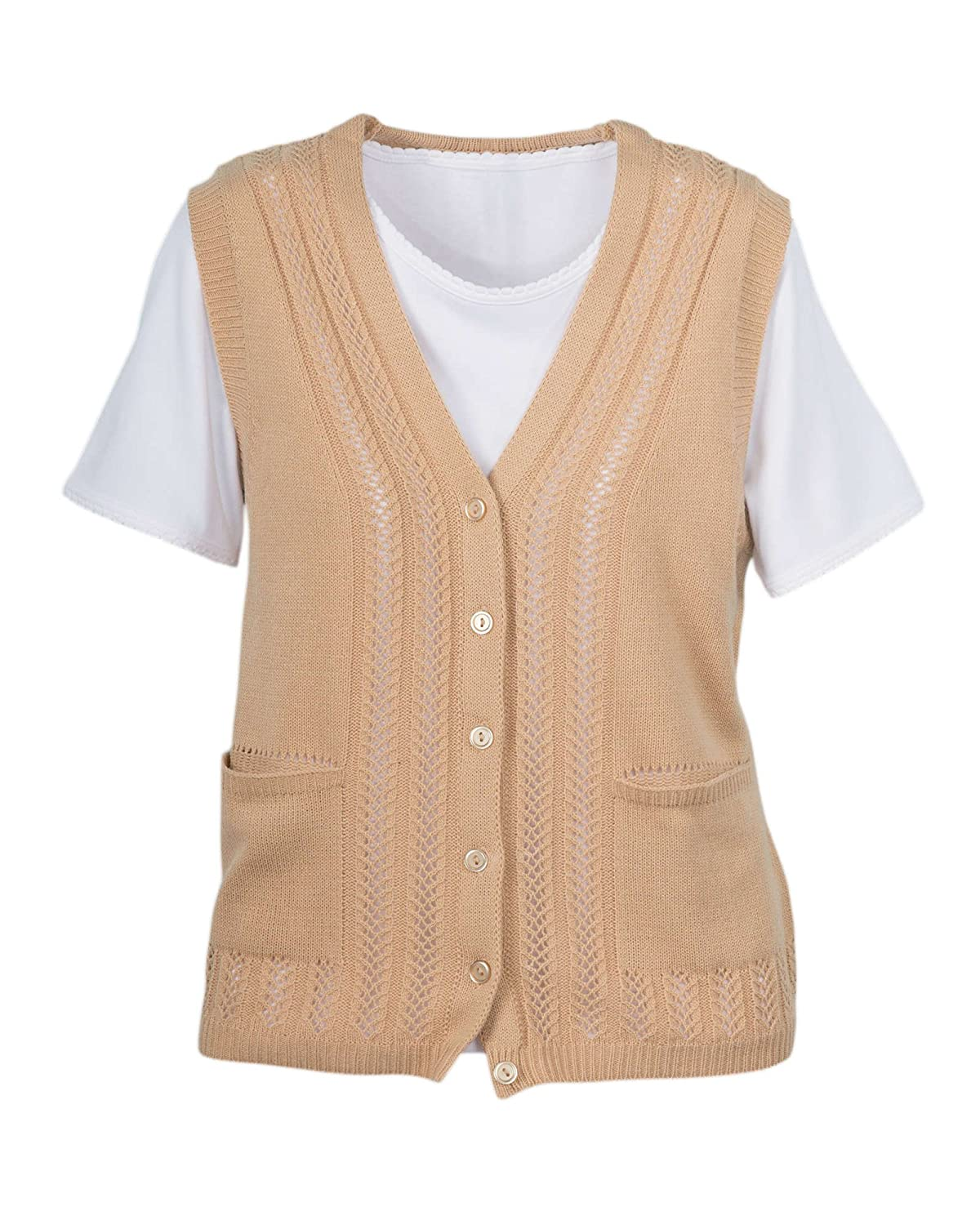 National Classic Sweater Vest at Amazon Women's Clothing store: