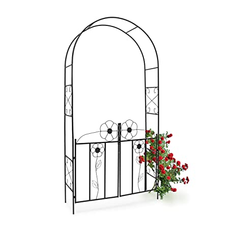 Relaxdays 10020031 Arche A Rosier Arceau De Jardin Decoration Tuteur