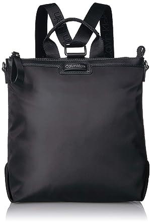 6971e72145d7 Calvin Klein Women's Lane Backpack/Crossbody Bag, Black, One Size ...