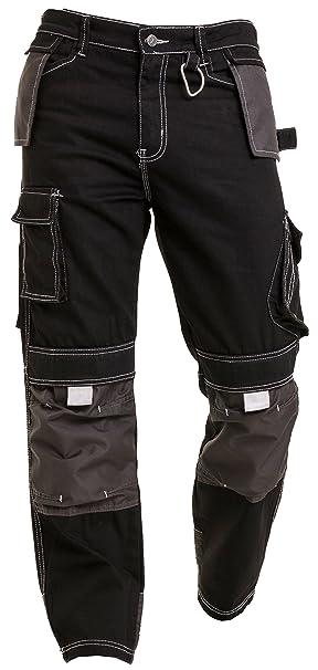 Qaswa Uomo Cargo Pantaloni Da Lavoro Multi e ginocchiere tasche Worker  Pants  Amazon.it  Abbigliamento 54c740e331a