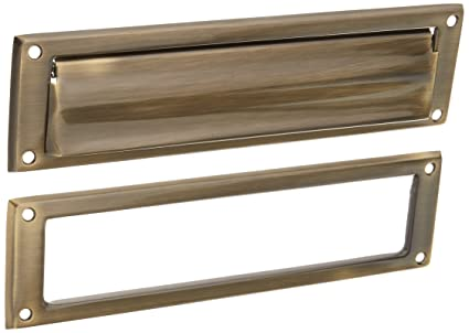 Schlage 620 13-Inch x 3-9/16-Inch Solid Brass Mail - Schlage 620 13-Inch X 3-9/16-Inch Solid Brass Mail Slot, Antique