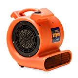 Max Storm 1 HP 2550 CFM Durable Lightweight Air Mover Carpet Dryer Blower Floor Fan for Pro Janitorial, Blue