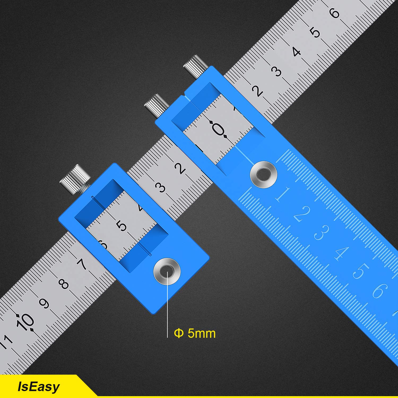 R/ègle de guidage Amovible guide de per/çage Gabarit de Positionnement Outil de perforation Jig Armoire mat/ériel Bois Outil /à Main D/éfinit