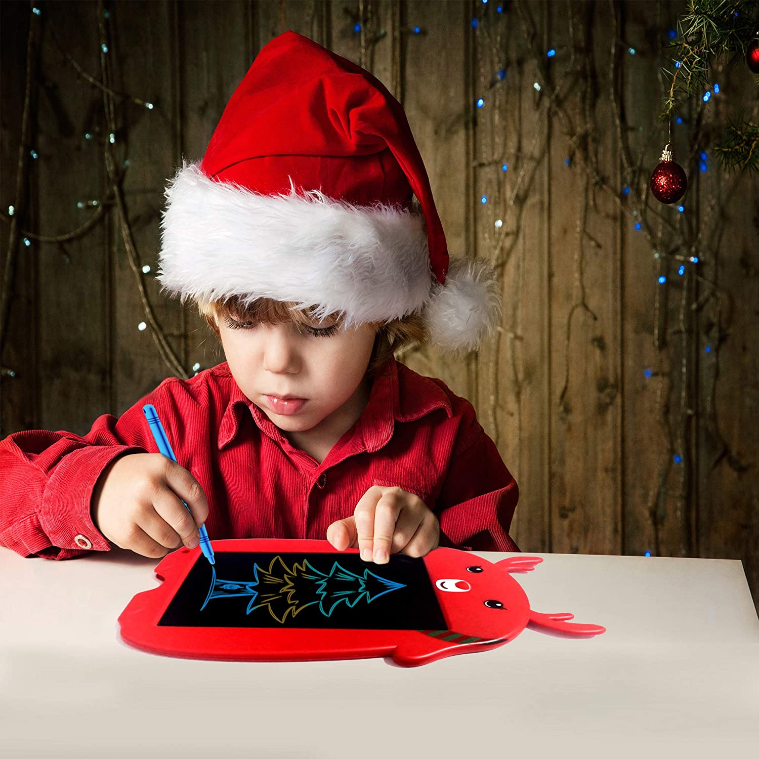 Red-Mc Erase Button Lock Included mom/&myaboys LCD Writing Tablet for Birthday Gift,Kids Toy 8.5 Inch Colorful LCD Writing Tablet Electronic Writings Pads Drawing Gifts for Kids Office Blackboard