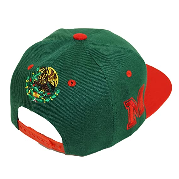 b4432bdaf Mexico Golden Eagle Embroidery Snpaback Hat Adjustable Mexican Flag ...