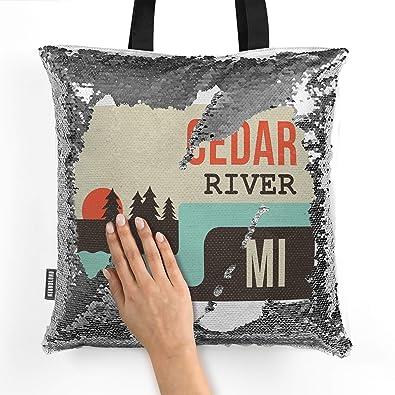 1b14735226 Amazon.com  NEONBLOND Mermaid Tote Handbag USA Rivers Cedar River -  Michigan Reversible Sequin  Shoes