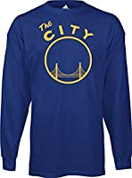 Golden State Warriors Vintage The City Adidas Royal Blue T Shirt LONG Sleeve