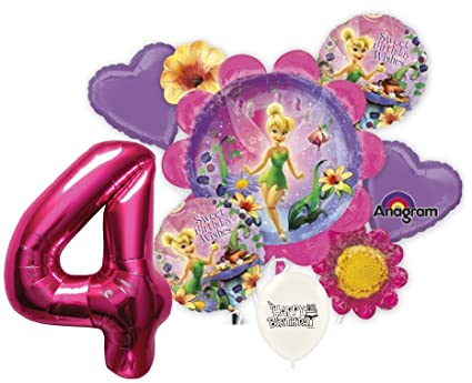 Amazon 4th Birthday Wishes Pink Number Tinkerbell Party