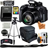 Canon Powershot SX60 HS 16.1 MP Digital Camera with 65x Zoom (Black) Includes: Canon Battery & Canon Charger + 9pc 32GB Deluxe Accessory Kit w/ Super Savings Microfiber Cloth