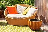 Green Decore Lightweight Outdoor Reversible Plastic Nirvana Rug