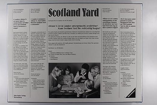 Ravensburger Scotland Yard Spiele (Spiel Des Jahres 1983) [Importación Alemana]: unbekannt: Amazon.es: Juguetes y juegos