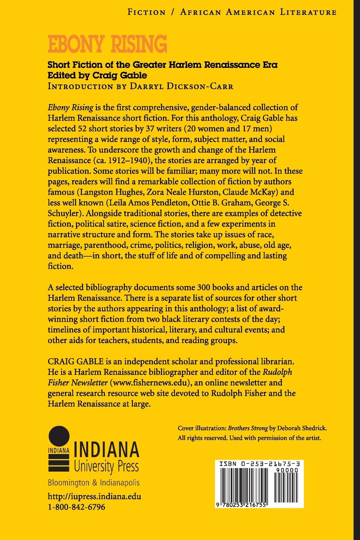 Ebony Rising: Short Fiction Of The Greater Harlem Renaissance Era: Craig  Gable: 9780253216755: Amazon: Books
