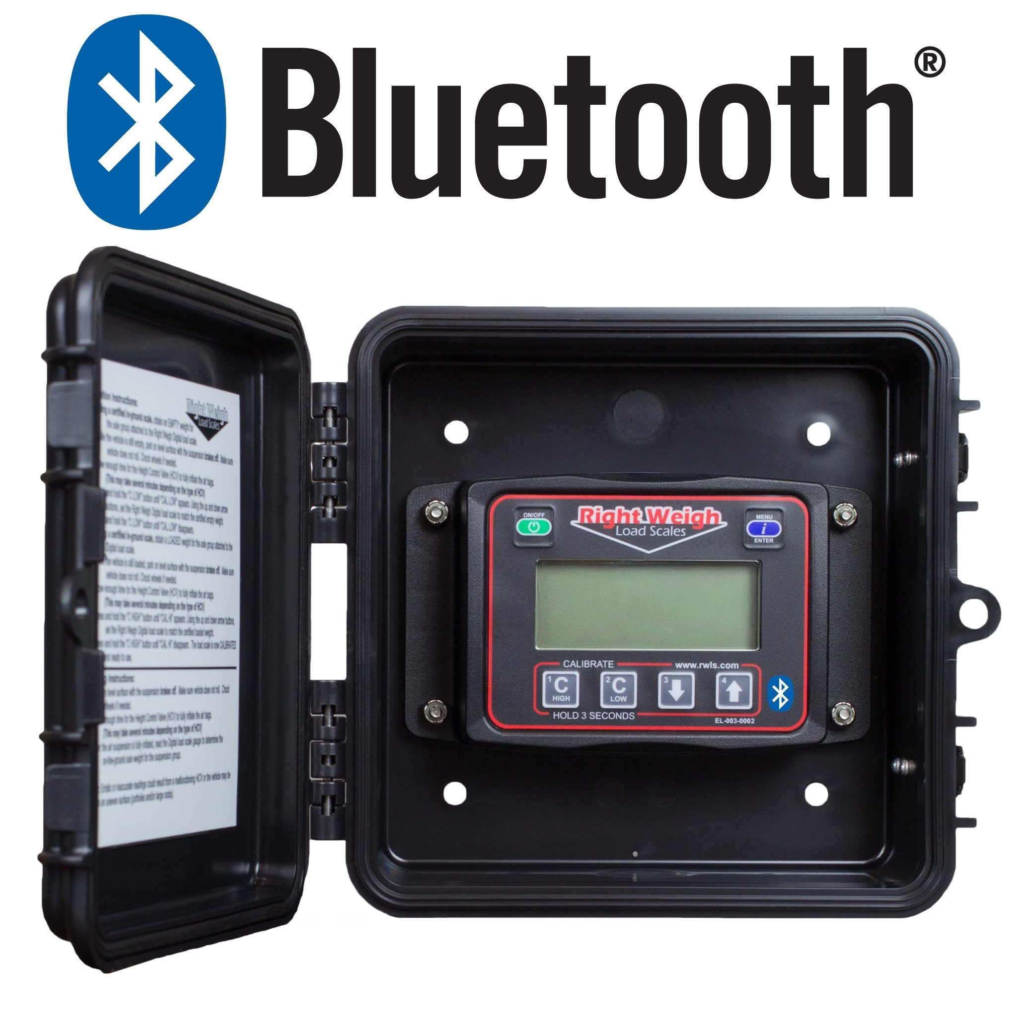 Bluetooth-Enabled Right Weigh 201-EBT-01B Exterior Digital Axle Load Scale - for Single Height Control Valve Air Suspensions