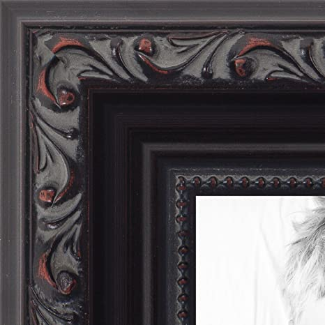 Amazoncom Arttoframes 24x30 Inch Black With Beads Wood Picture
