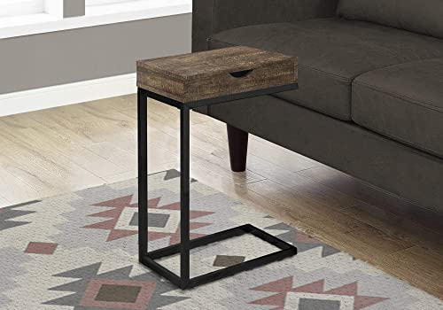 Monarch Specialties BROWN RECLAIMED WOOD-LOOK/BLACK/DRAWER ACCENT Review