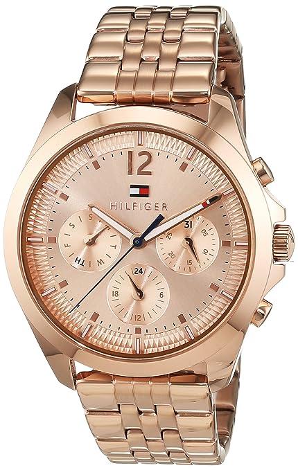 Reloj para mujer Tommy Hilfiger 1781700, mecanismo de cuarzo, diseño con varias esferas, correa de oro rosa.: Tommy Hilfiger: Amazon.es: Relojes