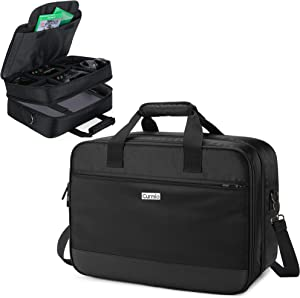 CURMIO Travel Carrying Case Compatible with Xbox One/ Xbox One X/ Xbox 360/ Xbox Series S, Portable Storage Bag Organizer for Xbox Game Console and Other Accessories, Black