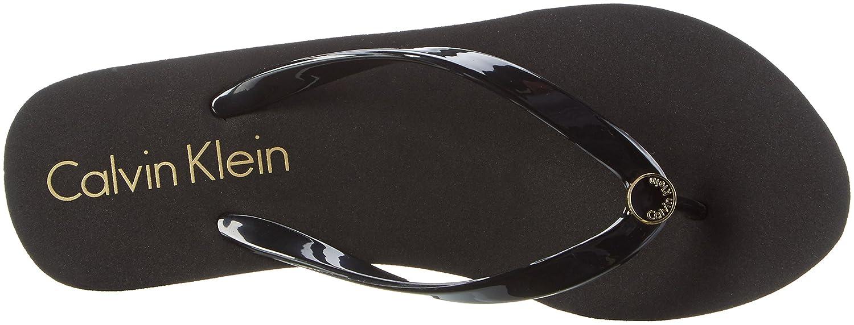 Calvin Klein Damen Wedge FF 001) Sandale Zehentrenner Schwarz (schwarz 001) FF 56c984