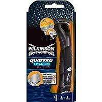 Wilkinson Sword Quattro Titanium Precision scheermes voor heren, met 1 scheermes, 1 st