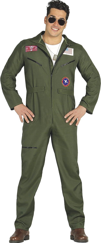 Guirca- Disfraz adulto piloto caza, Talla 56-58 (84875.0): Amazon ...