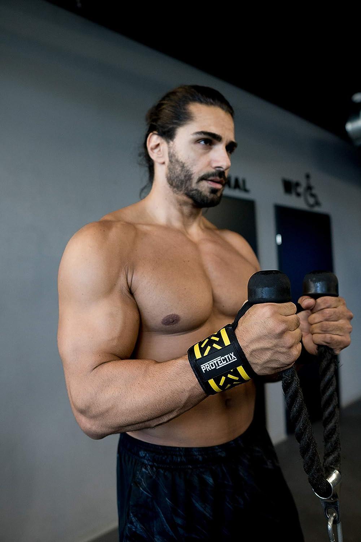 Le Fitness et Le Bodybuilding Le Crossfit pour Hommes et Femmes Protectix Lot de 2 Bandages de Poignet pour Le Sport de Force 45 cm