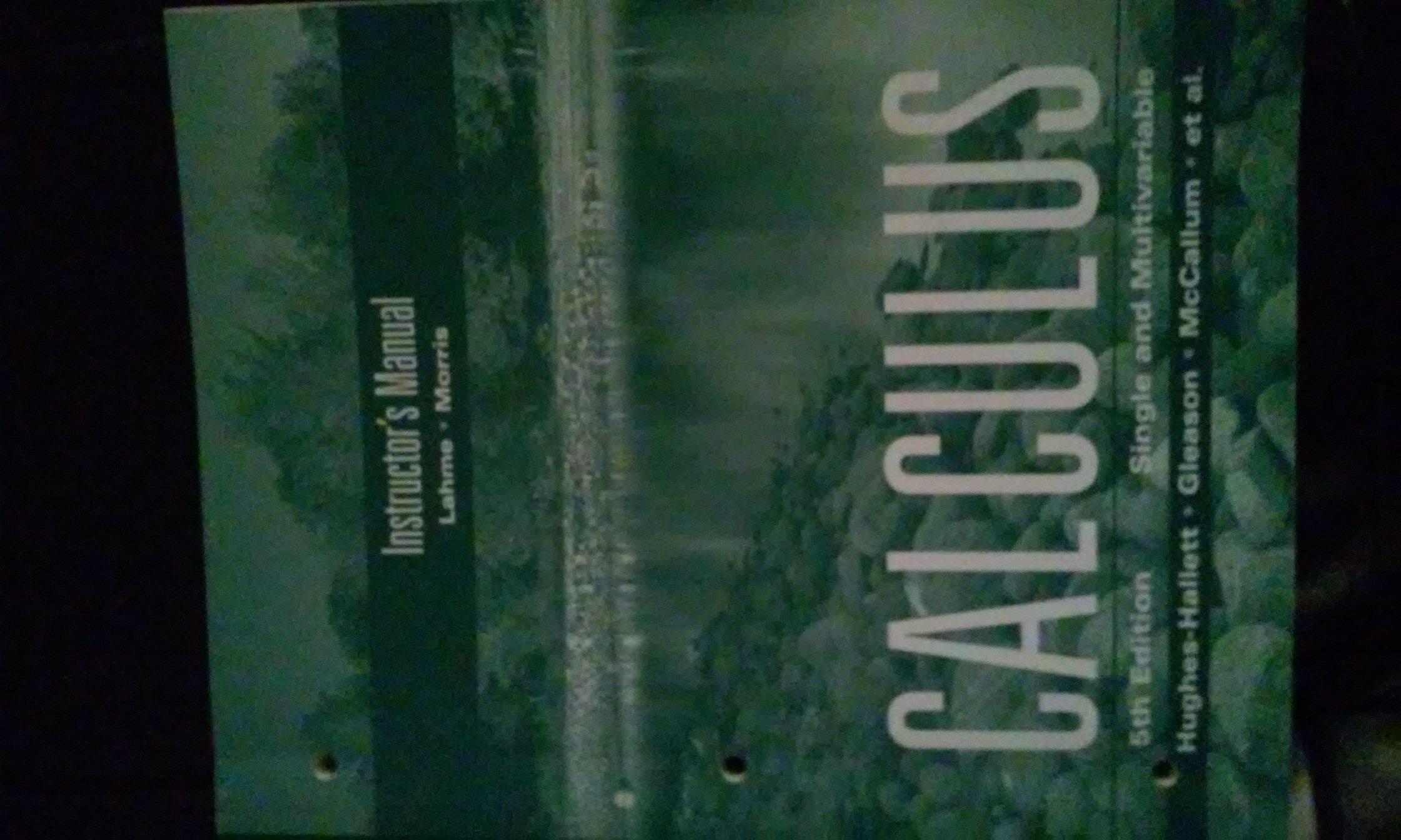 Calculus - Single and Multivariable, Fifth Edition (Instructor's Edition):  Gleason, McCallum Hughes-Hallett: 9780470414156: Amazon.com: Books