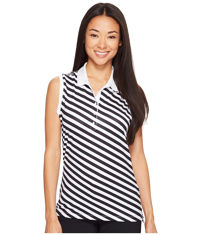 [ナイキ] Nike Golf レディース Precision Print Sleeveless Polo トップス [並行輸入品] XL White/Black/Metallic Silver B06XW6SD1B
