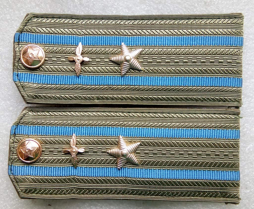 Shoulder straps Air Force Major For shirt USSR Soviet Union Russian Armed Forces Military Uniform Cold War Era