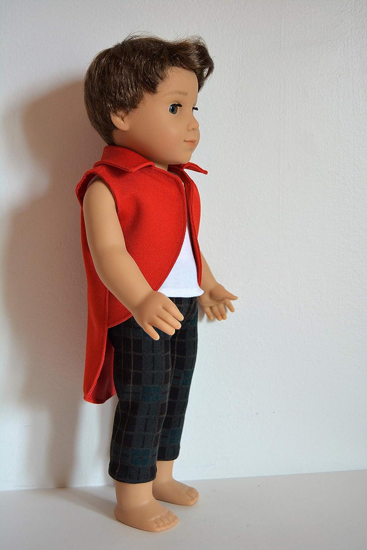 Handmade Doll Clothes Disney Descendants 2 Harry Hook Costume fits 18 American Girl Boy Dolls