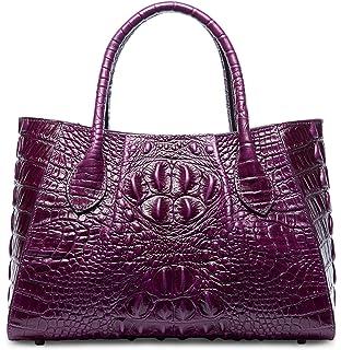 ceeea5fb8c PIFUREN Designer Crocodile Top Handle Handbags Womens Genuine Leather Tote  Bags