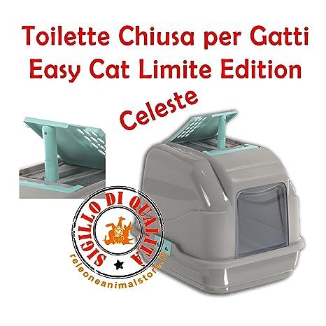 Imac Toilette Arenero para Gatos Easy Cat Limited Edition Pardo/Celeste