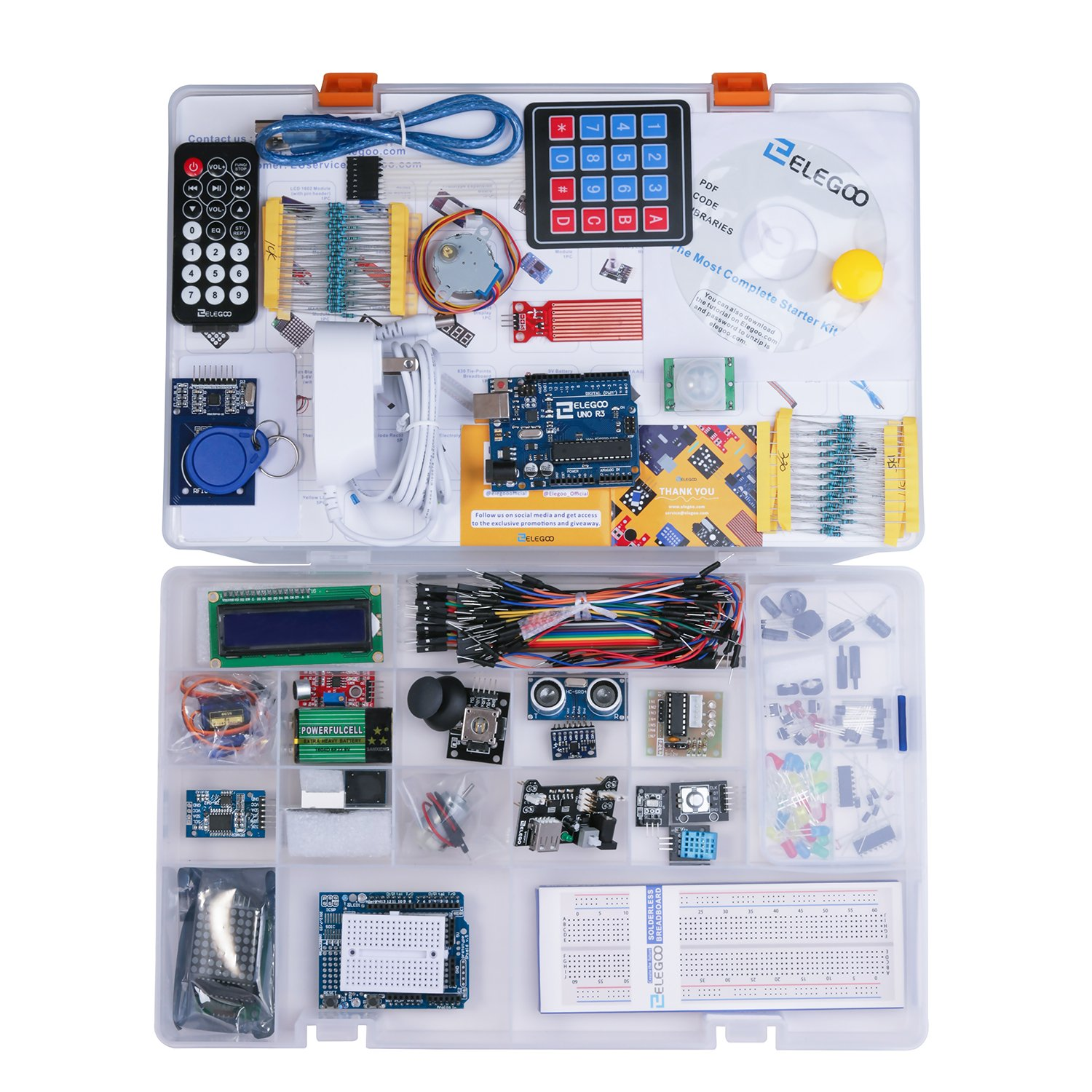 Elegoo El Kit 001 Uno R3 Project Complete Starter Electronic Watchdog Electronix With Tutorial For Arduino 63 Items Industrial Scientific