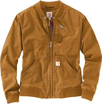 Carhartt Women Lightweight Jacket Crawford Bomber: Amazon.es: Ropa ...