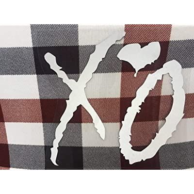 "The Weeknd XO Vinyl Sticker Car Truck Window Laptop Macbook Wall Art (6"" tall, White): Arts, Crafts & Sewing"