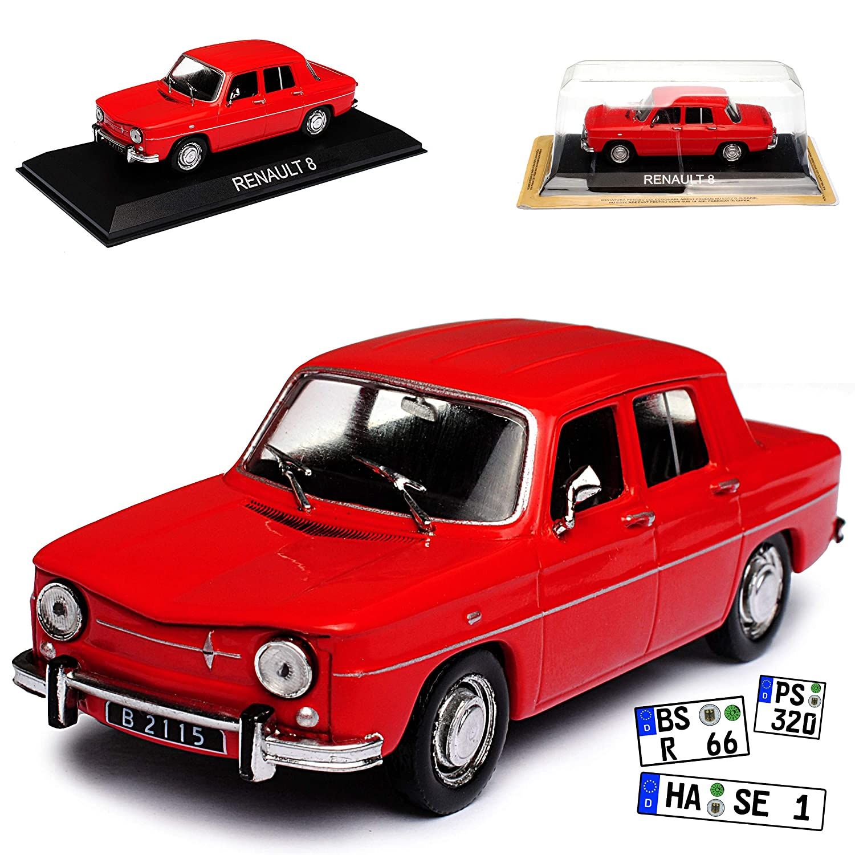 Renault R8 Limousine Rot 1962-1973 mit Sockel 1/43 Modellcarsonline Modell Auto Ixo IST Atlas Renault R8 R 8 Modellcarsonline alles-meine.de GmbH