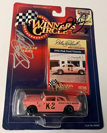 b47002308fa Image Unavailable. Image not available for. Color  Dale Earnhardt Sr   Dale  Earnhardt Jr Dual Signed 1 64 Pink Ford ...