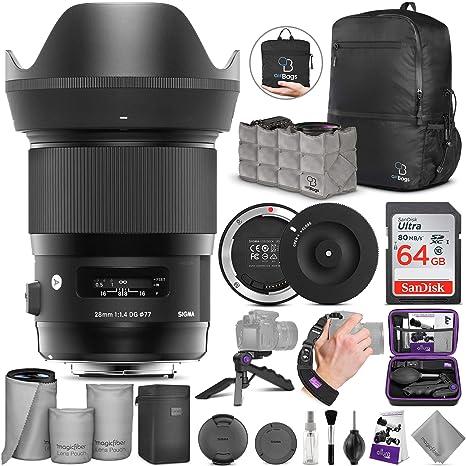 Sigma 28 mm f/1.4 DG HSM Art Lente para Canon EF con Sigma USB ...