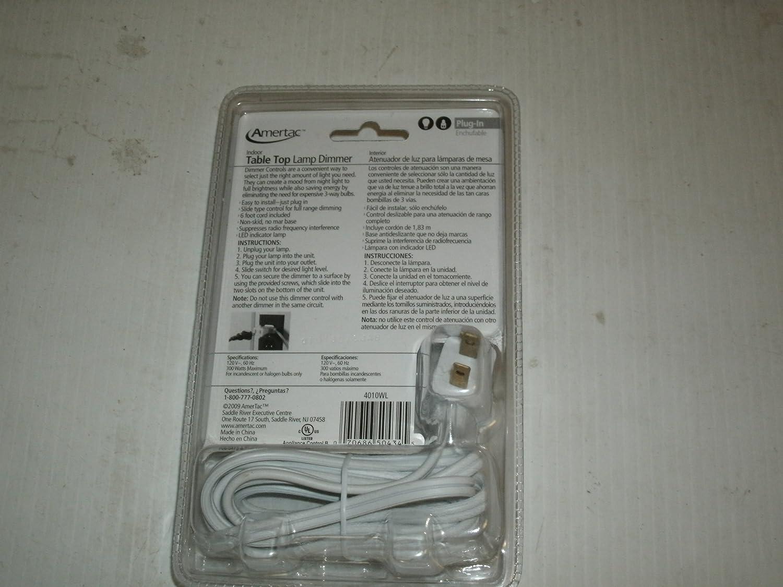 Amazon.com: AmerTac Indoor Table Top Lamp Dimmer Item#242008 Model#4010WL UPC# 070686504345: AmerTac: Beauty