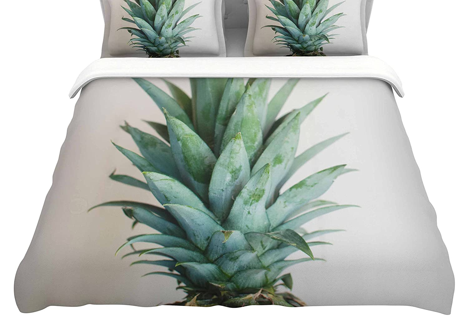 Kess InHouse Chelsea Victoria The Pineapple Featherweight Queen Duvet Cover, 88 x 88,