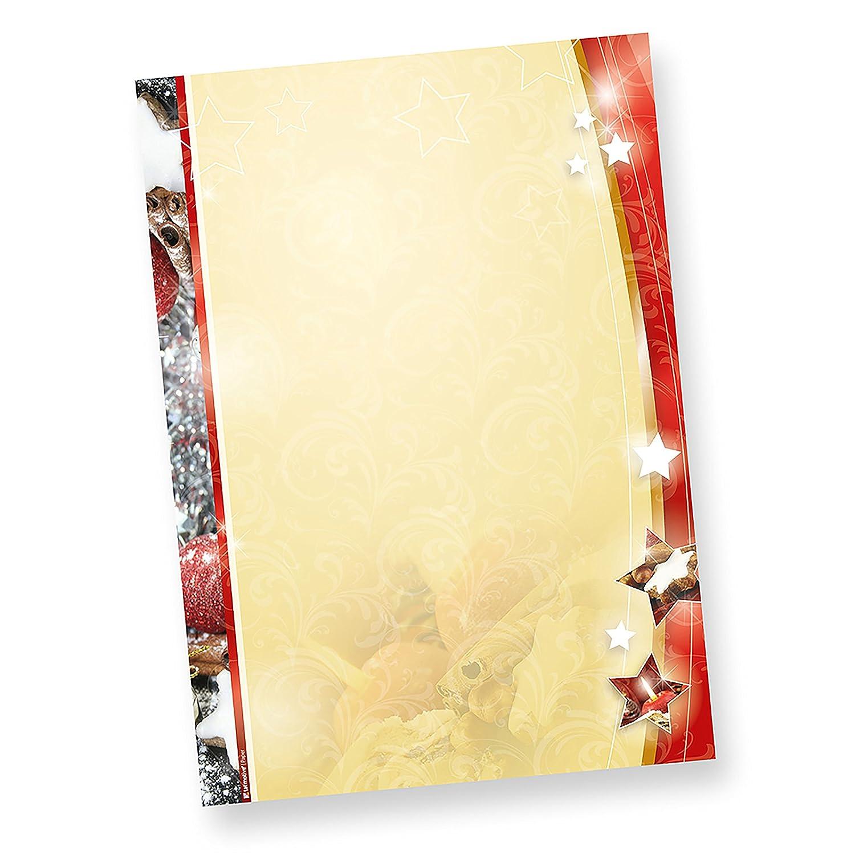 LEBKUCHEN 204-0050 Weihnachtsbriefpapier 50 Briefpapiere beidseitig Weihnachten A4 90 g//qm