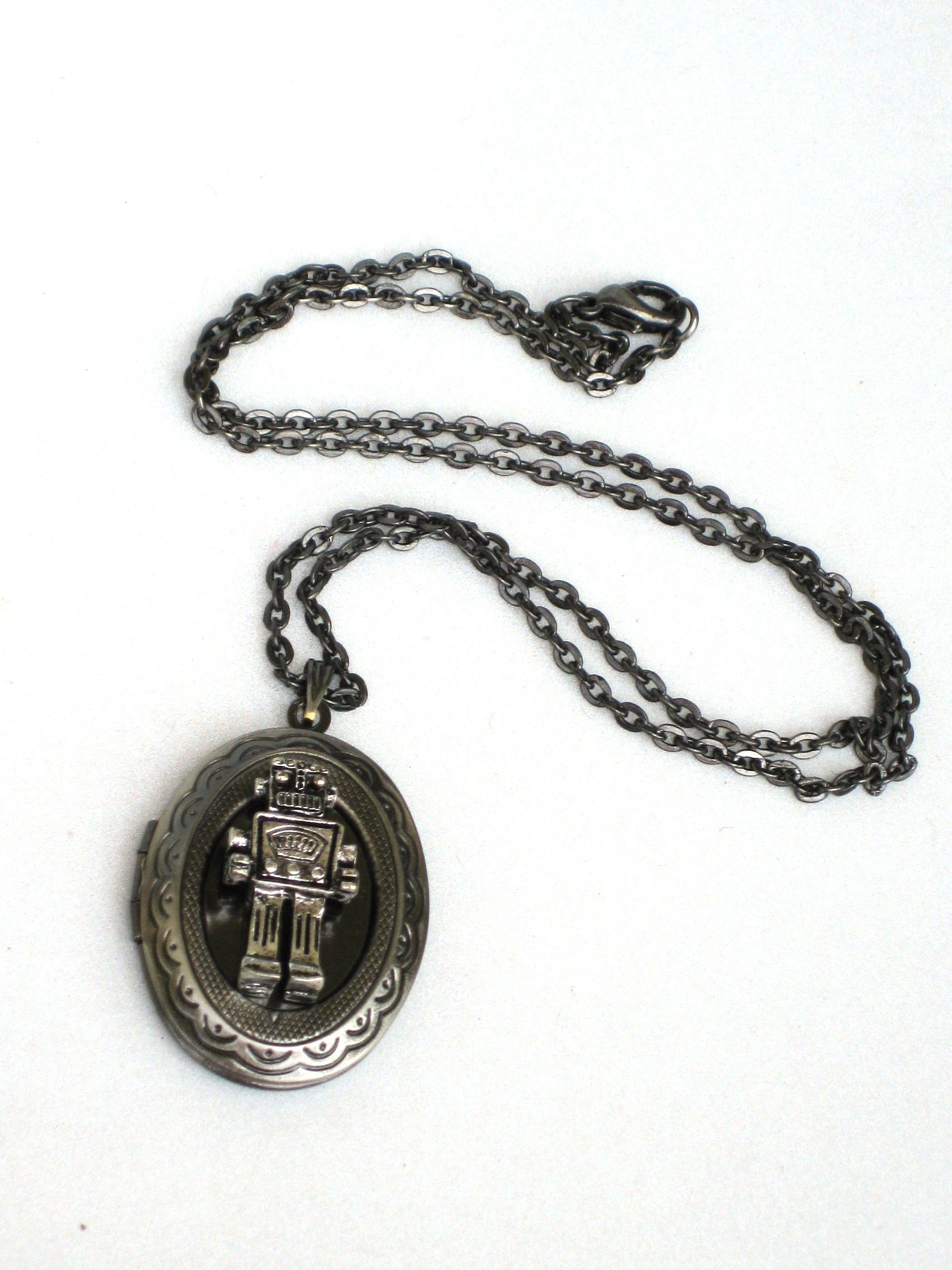 Steampunk Mr. Robot - Necklace Pendant locket