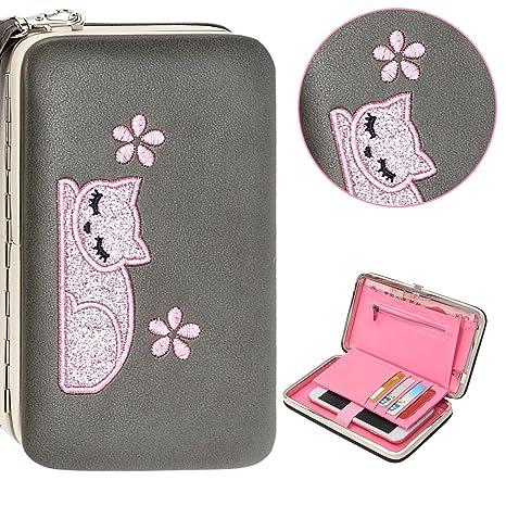 custodia samsung s6 portafoglio gatti
