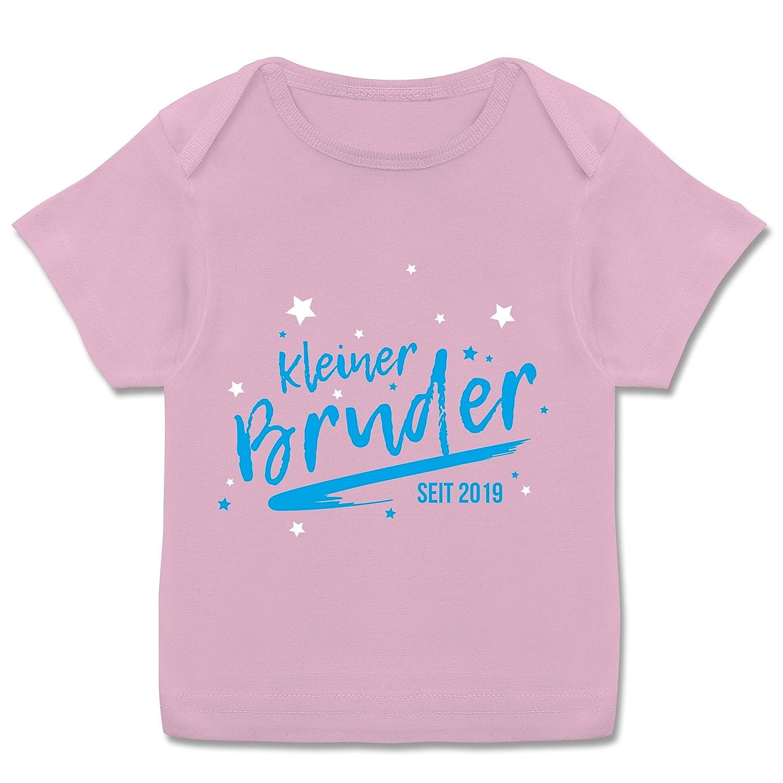 Kurzarm Baby-Shirt f/ür Jungen und M/ädchen Kleiner Bruder seit 2019 Geschwisterliebe Baby