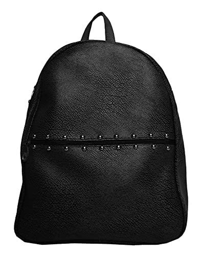 fea69b174163 TrendCreations Women s Leather Black Casual Backpack  Amazon.in  Shoes    Handbags